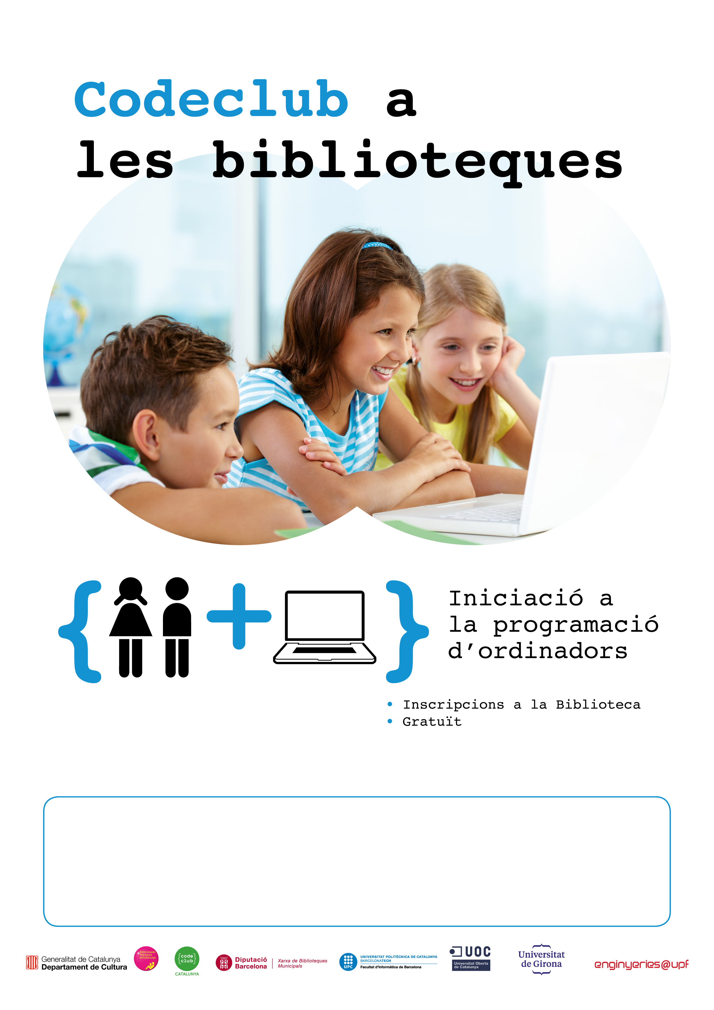 Cartell Code Club a les biblioteques